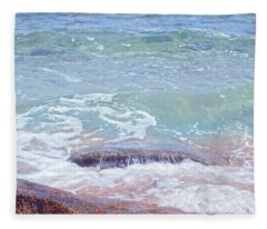African Seashore Fleece Blanket