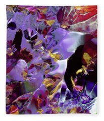 African Violet Awake #2 Fleece Blanket