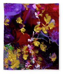 African Violet Awake #3 Fleece Blanket