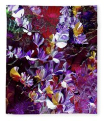 African Violet Awake #4 Fleece Blanket
