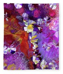 African Violet Awake #5 Fleece Blanket
