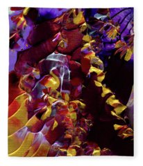 African Violet Awake Fleece Blanket
