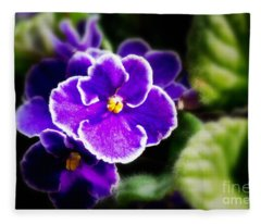 African Violet Fleece Blanket