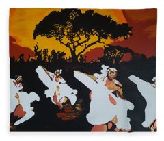 Afro Carib Dance Fleece Blanket