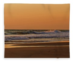 After A Sunset Fleece Blanket