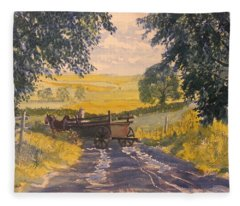 After Rain On The Wolds Way Fleece Blanket