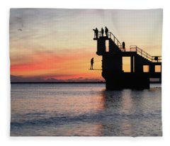 After Sunse Blackrock 3 Fleece Blanket