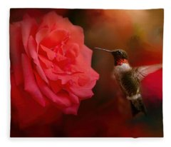 After The Big Rose Fleece Blanket