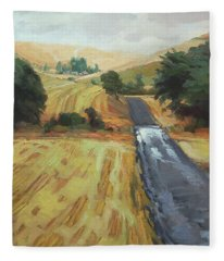 After The Harvest Rain Fleece Blanket