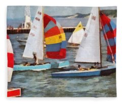 After The Regatta  Fleece Blanket