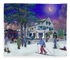 After The Storm At Woodstock Inn Fleece Blanket