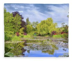 Afternoon At Giverny Fleece Blanket