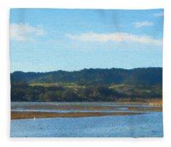 Afternoon At Marin Wetlands Fleece Blanket
