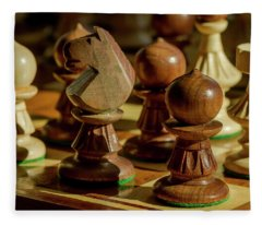 Afternoon Chess Game Fleece Blanket