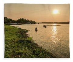 Afternoon Huong River #2 Fleece Blanket