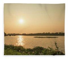 Afternoon Huong River Fleece Blanket