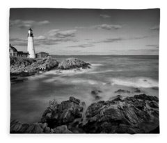 Afternoon Light In Black And White Fleece Blanket