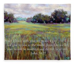 Afternoon Serenity With Bible Verse Fleece Blanket