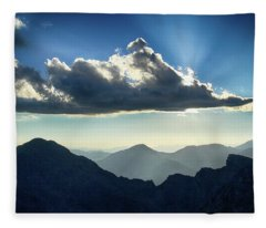 Afternoon Sunburst Fleece Blanket