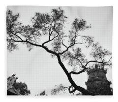 Afternoon Thien Mu Pagoda Fleece Blanket