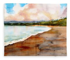 Aganoa Beach Savai'i Fleece Blanket