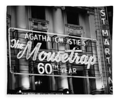 Agatha Christie's The Mouse Trap 60th Anniversary Fleece Blanket