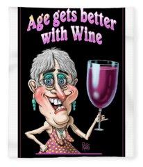 Age Gets Better Woman Fleece Blanket