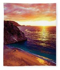 Agean Coast, Turkey Fleece Blanket