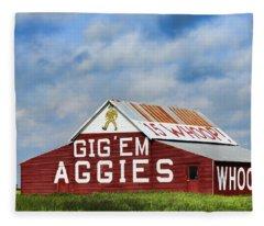 Aggie Nation Barn Fleece Blanket