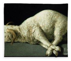 Agnus Dei Fleece Blanket
