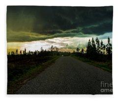 Ahead Of The Storm Fleece Blanket