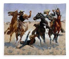 Aiding A Comrade Fleece Blanket