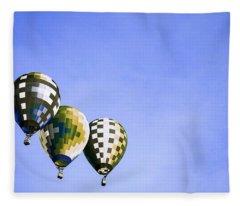 Air Balloons 3 Fleece Blanket