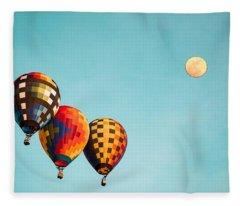 Air Balloons 4 Fleece Blanket