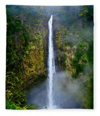 Akaka Falls Fleece Blanket