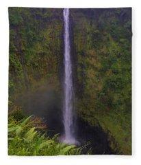 Akaka Falls Fleece Blanket