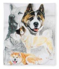Akita Ken Revamp Fleece Blanket