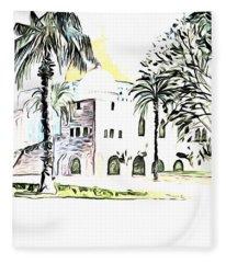 Al Aqsa Palm Trees Fleece Blanket