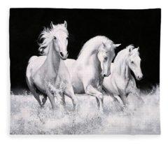 Al Galoppo  Nella Notte Fleece Blanket