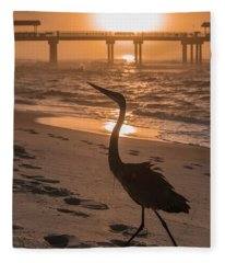 Alabama Blue Heron Fleece Blanket