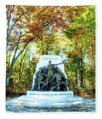 Alabama Monument At Gettysburg Fleece Blanket