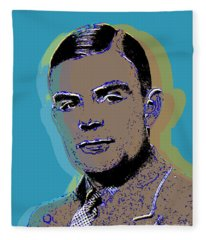 Alan Turing Pop Art Fleece Blanket