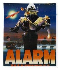 Alarm Im Weltall German Forbidden Planet Movie Poster Fleece Blanket