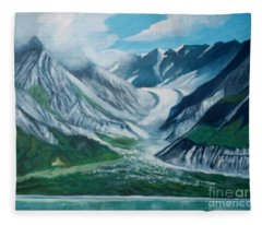 Alaska Glacier Bay Park Fleece Blanket