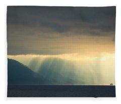 Alaska Inside Passage Under The Clouds Fleece Blanket