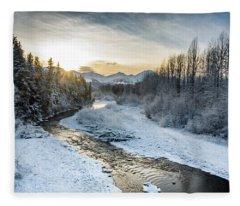Alaska Sunset Fleece Blanket