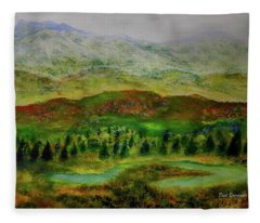 Alaskan Autumn Fleece Blanket