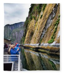 Alaskan Fjords Fleece Blanket