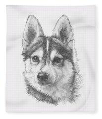 Alaskan Klee Kai Fleece Blanket