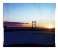 Alaskan Sunrise Fleece Blanket